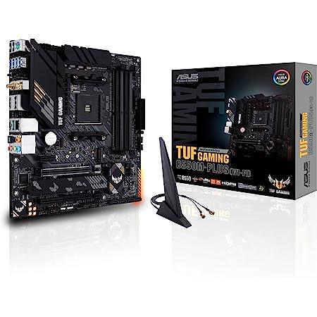 ASUS TUF Gaming B550M-PLUS (WiFi 6) AMD AM4 (3rd Gen Ryzen microATX Gaming Motherboard (PCIe 4.0, 2.5Gb LAN, BIOS Flashback, HDMI 2.1, USB 3.2 Gen 2, Addressable Gen 2 RGB Header and Aura Sync)