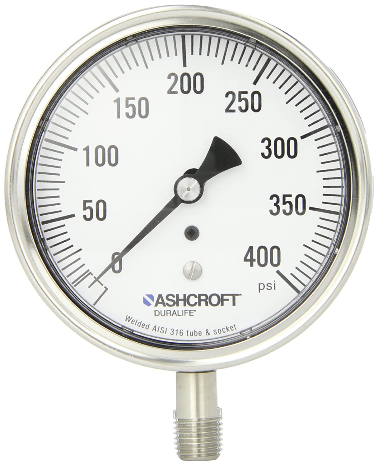 Ashcroft Duralife Selling Lowest price challenge rankings Type 1009 Stainless Dry Steel Case Pres Filled