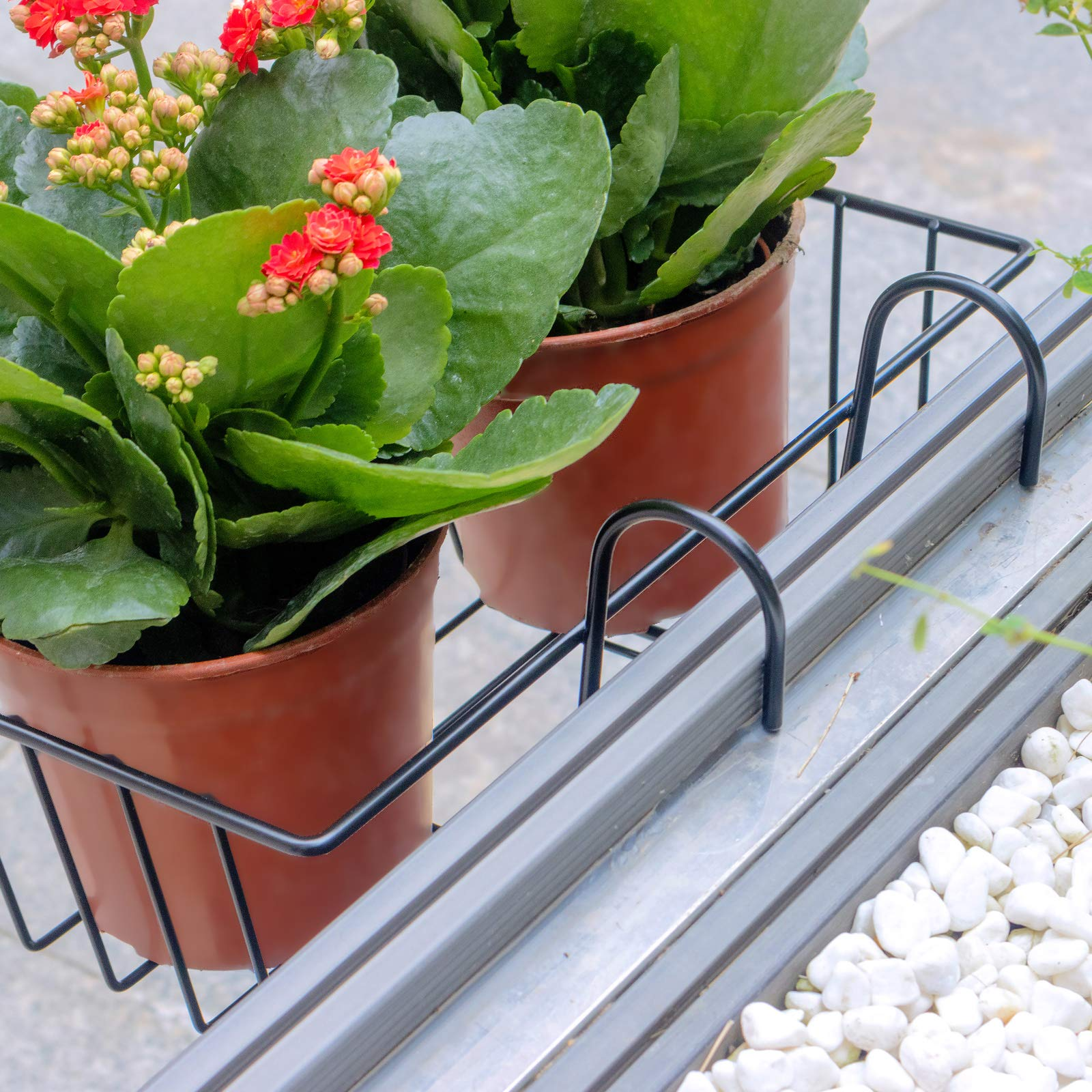 Small ORZ Over Deck Railing Planter Balcony Hanging Window Box ...