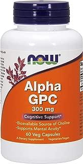 Now Foods - ALPHA GPC 300mg - Alfa GPC (L-alfa-glicerilfosforilcolina) - 60 veg caps