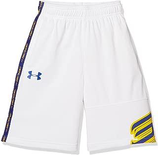 Under Armour Kids Boy's Steph Curry 30 Shorts (Big Kids) White/Green Typhoon/Royal XL (18-20 Big Kids)