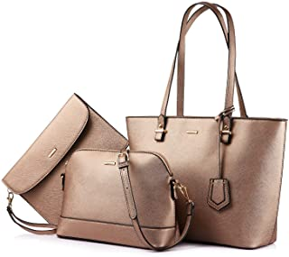2c87e064e78e Handbags for Women Tote Bag Fashion Satchel Purse Set Hobo Shoulder Bags  Designer Purses 3PCS PU