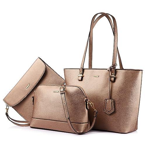 60a1be3f07d5 Handbags for Women Shoulder Bags Tote Satchel Hobo 3pcs Purse Set