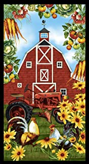 Farmer's Market Banner Panel by Geoff Allen from Studio E 100% Cotton Quilt Fabric 4450PS-66-23
