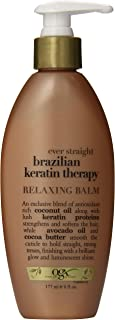 OGX Relaxing Balm, Ever Straight Brazilian Keratin Therapy, 6 Ounce