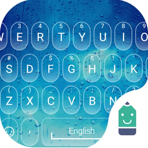 Rain Drop Theme&Emoji Keyboard
