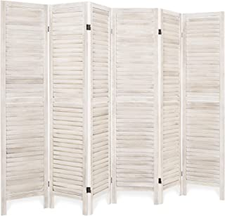 Best Choice Products 67x96in 6-Panel Folding Freestanding Wood Blind Style Room Divider Privacy Screen Accent - Natural
