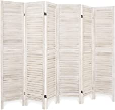 Best Choice Products 67x96in 6-Panel Blind Style Wood Folding Freestanding Room Divider Privacy Screen for Living Room, Bedroom, Apartment, Natural