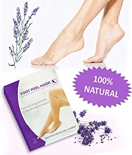 MGS Foot Peel Mask - Soft Baby Feet for Foot, 2 Pairs Lavender Exfoliating Booties Callus Remover Feet Mask for Women or Men
