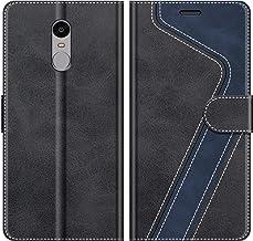 MOBESV Funda para Xiaomi Redmi Note 4, Funda Libro Xiaomi Redmi Note 4, Funda Móvil Xiaomi Redmi Note 4 Magnético Carcasa para Xiaomi Redmi Note 4 Funda con Tapa, Negro
