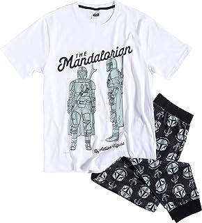 TDP Textiles Mens White The Mandalorian Pyjamas