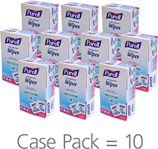PURELL Hand Sanitizing Wipes, Alcohol Formula, Fragrance Free, 100 Count Individually Wrapped Hand Wipes (Pack of 10) - 9022-10