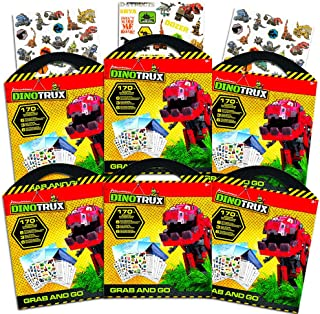 Dinotrux Ultimate Party Favors Packs -- 6 Sets with Stickers, Coloring Pages and Play Scenes (Dinotrux Party Supplies)