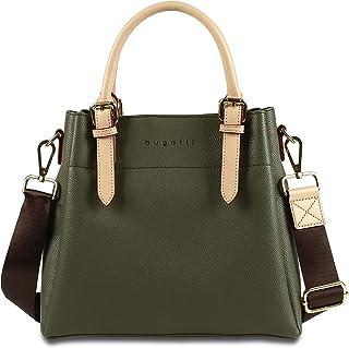 bugatti Ella Handtasche Damen M - Frauen Tasche, Damenhandtasche – Olive