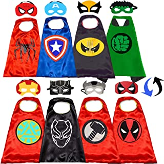 Superhero Capes and Masks for Kids - Kids Costumes Double Side Capes Best Superhero Toys and Kids Gifts Yellow