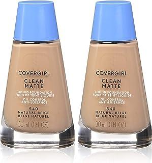 CoverGirl Clean Oil Control Liquid Makeup, Natural Beige [540] 1 oz (Pack of 2)