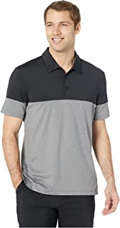 [adidas(アディダス)] メンズタンクトップ・Tシャツ Ultimate 3-Stripes Heather Blocked Polo Grey Five Heather/Black 2XL (2XL) One Size [並行輸入品]