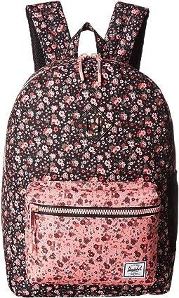 Multi Ditsy Floral Black/Flamingo Pink