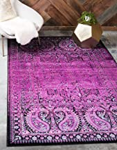 Unique Loom Imperial Collection Modern Traditional Vintage Distressed Lilac Area Rug (7' 0 x 10' 0)