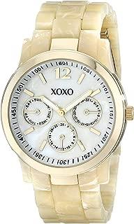 XOXO Womens Quartz Watch, Analog Display and Plastic Strap XO5512