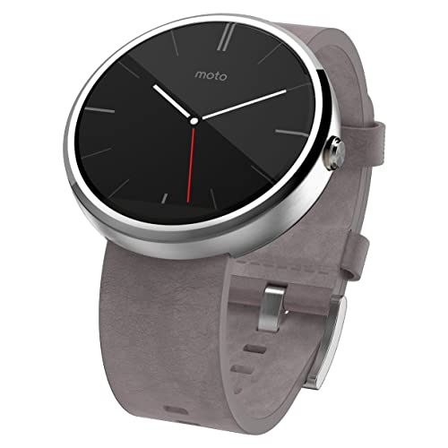 e6b8bd0af60c29 Motorola Moto 360 - Stone Grey Leather Smart Watch