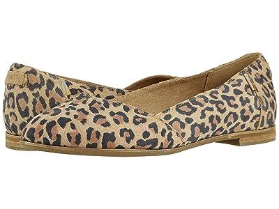 TOMS Julie (Desert Tan Leopard Print Suede) Women