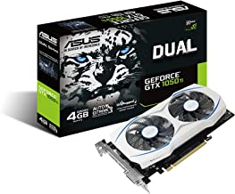 ASUS Geforce Dual GTX 1050 Ti 4GB Dual-Fan Edition DVI-D HDMI DP 1.4 Gaming Graphics Card (DUAL-GTX1050TI-O4G) Graphic Cards