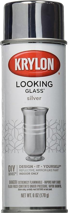 Krylon Looking Glass Silver Like Aerosol Spray Paint 6 Oz Amazon Com