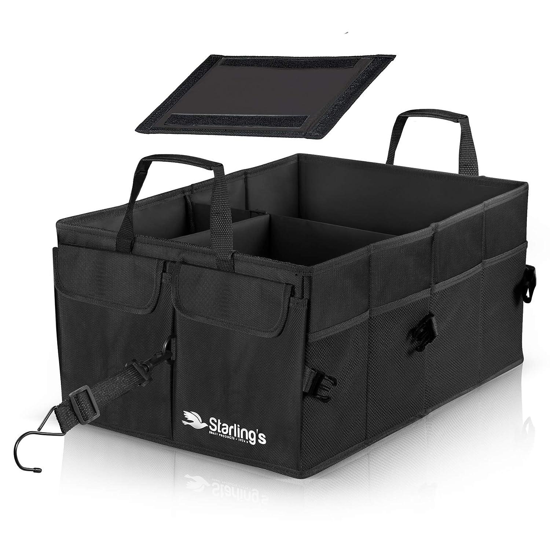 Kofferraumtasche Kofferraum Von Starling S Organizer Auto Autotasche Kofferraum Box Umweltfreundlich Stark Aufbewahrungsbox Für Auto Suv Verstellbare Fächer Rutschfeste Wasserdichte Böden Auto