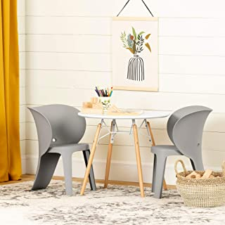 South Shore Sweedi Kids Table and Chairs Set-Elephant Gray