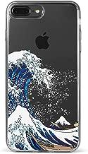 iPhone 8 Plus / 7 Plus Clear Case, CaseYard Luxury Fashion Slimfit Clear Case, Made in California (iPhone 8 Plus / 7 Plus) (Clear) Kanagawa Waves