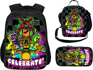 Five Nights at Freddy's Backpack Three Piece Sets Backpack Include Lunch Box and Pencil Case