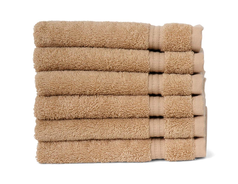少数通貨百年(6 x Washcloths, Beige) - TowelSelections Sunshine Collection Soft Towels 100% Turkish Cotton 6 Washcloths Beige