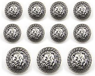 Home & Garden Analytical 10 Pieces New Fashion High Grade Lion Head Jacket Buttons Shirt Sweater Button Decorations Accessories 20mm 25mm Free Shipping