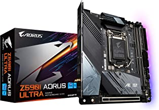 GIGABYTE Z590I AORUS Ultra (LGA 1200/Intel Z590/Mini-ITX/Dual M.2/PCIe 4.0/USB 3.2 Gen2X2..