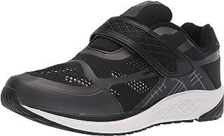 Propét - Sneaker da uomo con cinturino, Nero (Black/Dark Grey), 42 EU