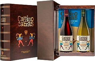 CAMINO DE CABRAS Estuche regalo – Producto Gourmet – Vino blanco - Godello Valdeorras + Vino tinto Crianza – Valdeorras – Mencía - Vino bueno para regalo - 2 botellas x 75cl