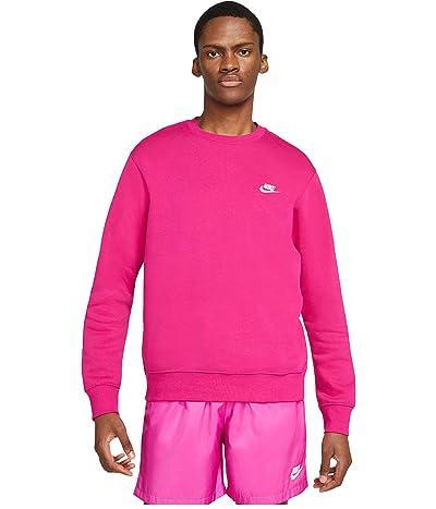 Nike NSW Club Crew (Fireberry/White) Men