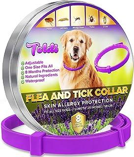 toldi Tratamiento-de-pulgas-para-Perros, Collar-antipulgas-Perros Ajustable, 8 Meses de protecci�...