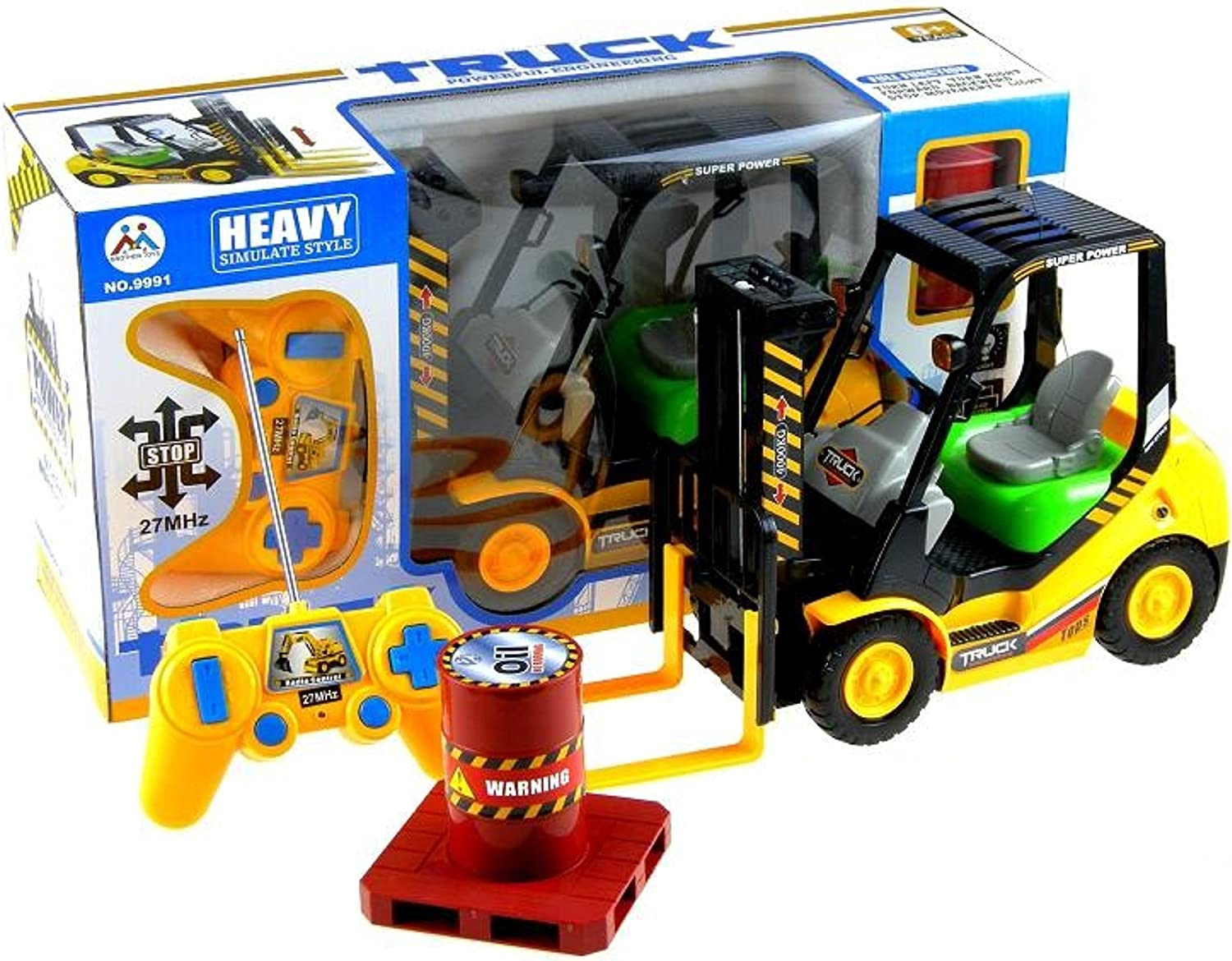 BSD RC Remote control Forklift Truck  Construction Vehicle with Front Loader and Pallet