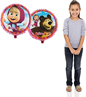 Foil Balloon with Bright Animation Favorite characters Masha and the Bear, 1 lot -1 piece a Balloon.