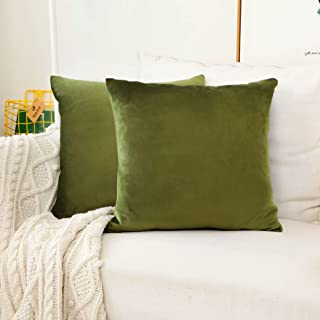 18606e0d251 HOME BRILLIANT Set of 2 Velvet Accent Throw Pillow Covers Cushion Cover  Decorative Pillowcases for Nursery