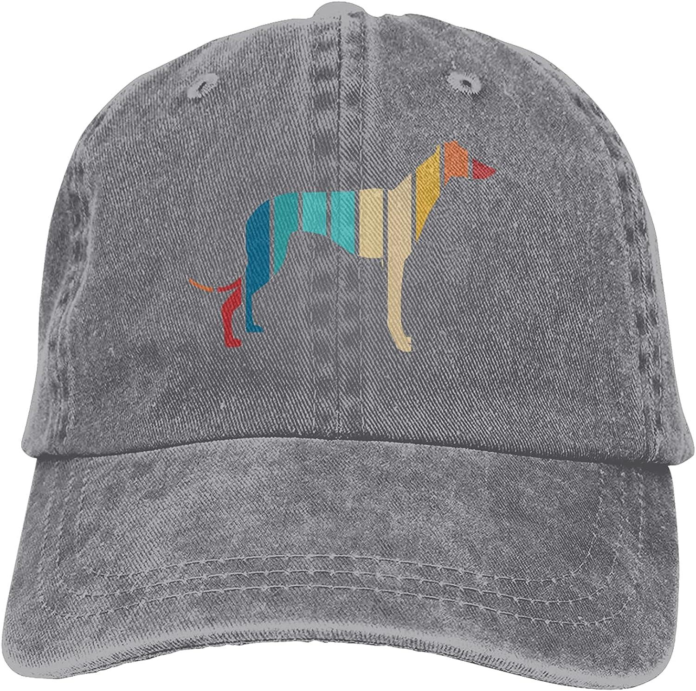 Vintage Greyhound Baseball Cap Trucker Hat Retro Cowboy Dad Hat Classic Adjustable Sports Cap for Men&Women Gray