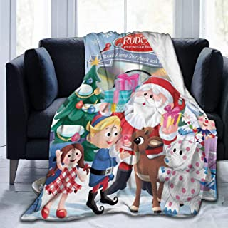Decorative cushion Rudolph the reindeer and Santa Claus baby Animals Cute gift to decorate a child/'s room Standard Satin