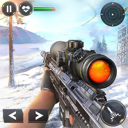 World War Winter Sniper Assault Kampfregeln der Survival Shooter Arena: Schießen und Tötet Terrorangriff in Battle Simulator Action-Abenteuer spannende 3D-Spiel