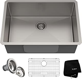 Kraus KHU100-28 Kitchen Sink, 28 Inch, Stainless Steel