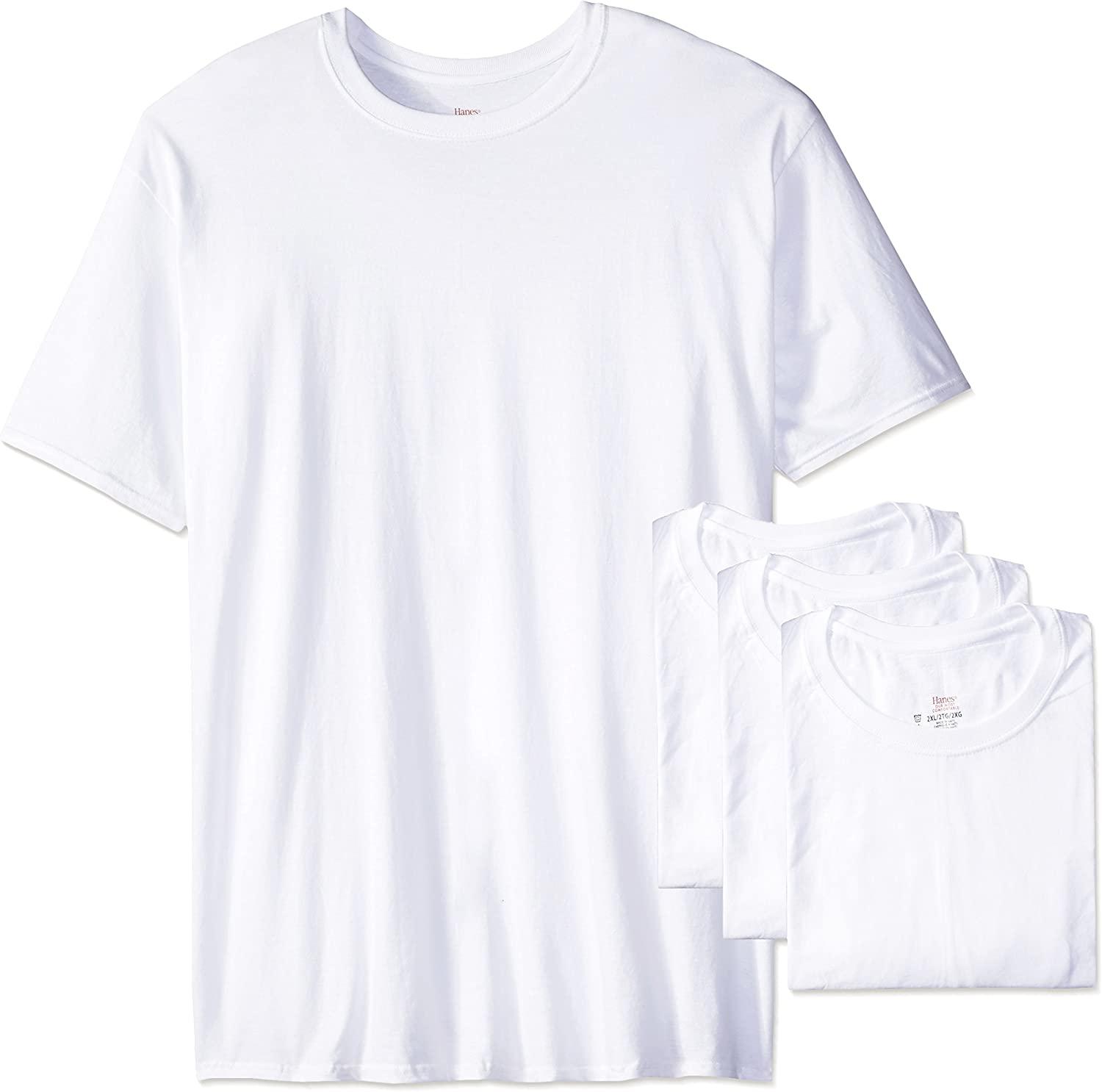 Hanes Ultimate Men's Big and Tall FreshIQ Odor Control Crew Neck Undershirt-Multipack, 4-Pack Big & Tall, X Large