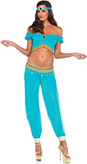 3PC. Desert Beauty, crop top, harem pants w/panty, head piece