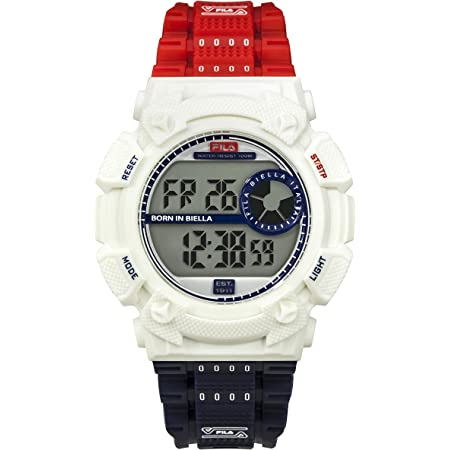 FILA Digital Watch Men - Digital Watches for Men - Digital Watches for Women - Vintage Watch - Swimming Watch - Fila Watches for Men - Digital Bracelet Watch - 90s Fila White & Red Fila Watch