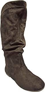 Charles Albert Women's Classic Soft Slouchy Faux Leather Knee High Boots
